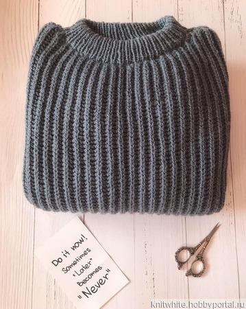 Женский свитер oversize ручной работы на заказ