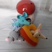 Вязаные игрушки Мыши-Смышарики