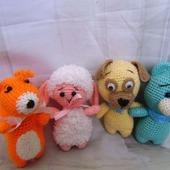 Вязаные игрушки Зоопарк
