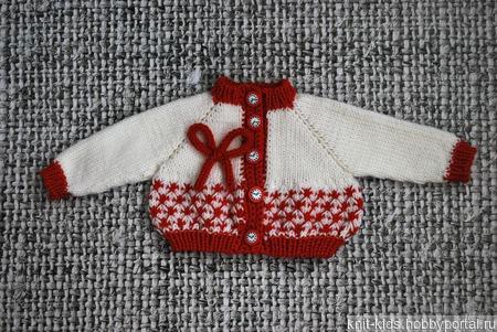 Вязаный теплый зимний комплект  из шерсти мериноса для новорожденного ручной работы на заказ