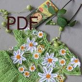 Описание в формате PDF на детское платье Аленка