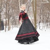 Сарафан в стиле бохо на зиму с подъюбником