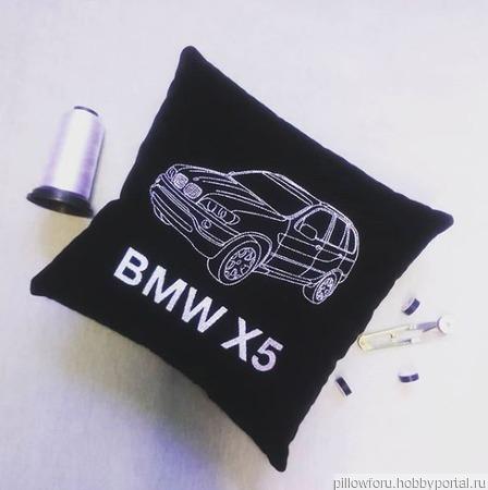 Подушка автомобильная BMW X5 ручной работы на заказ