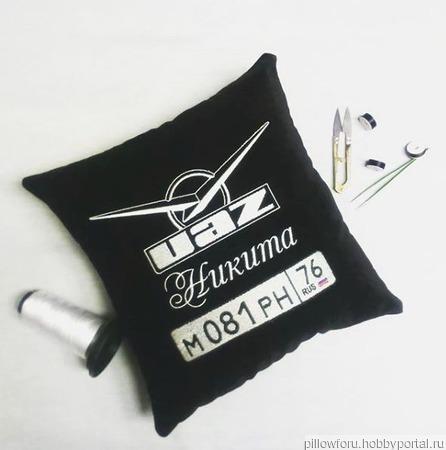 Подушка автомобильная UAZ ручной работы на заказ