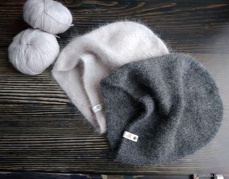 Вязаная шапка бини ручной работы на заказ