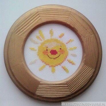 "Картина вышитая ""Солнышко"" ручной работы на заказ"