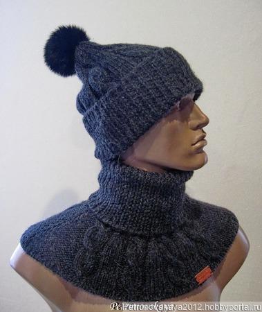"""Джемпер """"Gucci"""" + шапка + снуд (в комплект) ручной работы на заказ"""