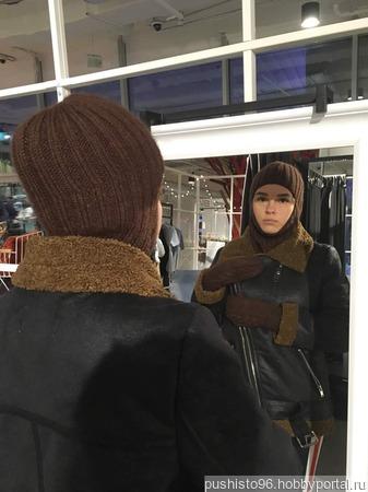 Балаклава женская вязаная ручной работы на заказ