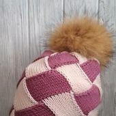 Двойная шапка из мериносовой шерсти
