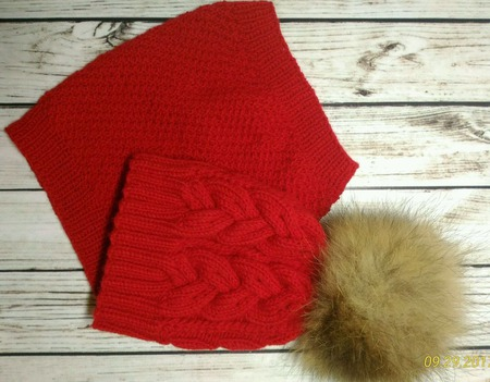 Ярко-красный детский комплект на осень или весну ручной работы на заказ