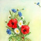 """Панно """"Полевые цветы"""""""