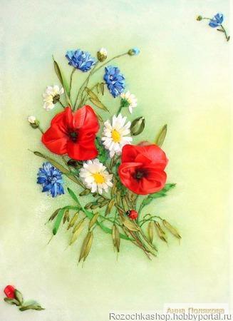 """Панно """"Полевые цветы"""" ручной работы на заказ"""