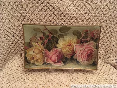 """Ваза """"Винтажные розы"""" ручной работы на заказ"""