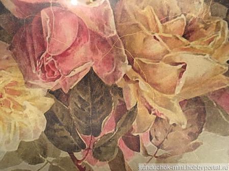 """Декоративное блюдо """"Винтажные розы"""" ручной работы на заказ"""