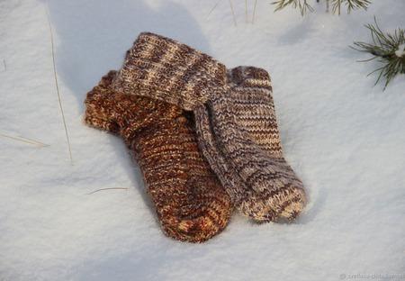 Вязаные носочки ручной работы на заказ