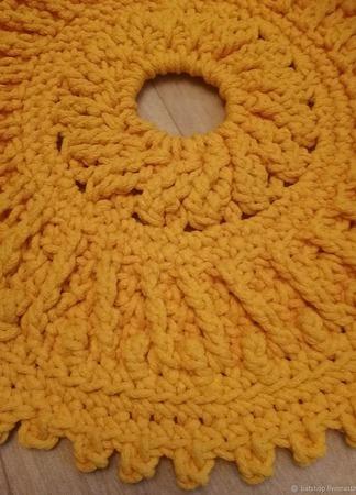 Круглый желтый коврик ручной работы на заказ