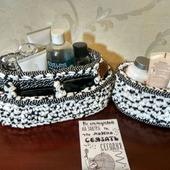 Косметичка-корзина из трикотажной пряжи