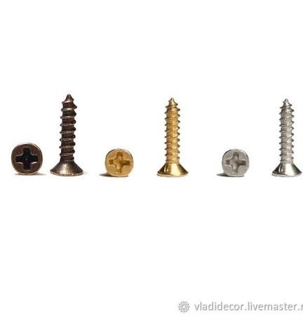 Крепёж шурупы гвозди пины штифты винтовые ручной работы на заказ