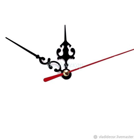 Стрелки для часов фигурные ручной работы на заказ