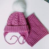 Вязанная шапка и снуд