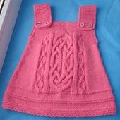 Розовый сарафан для малышки
