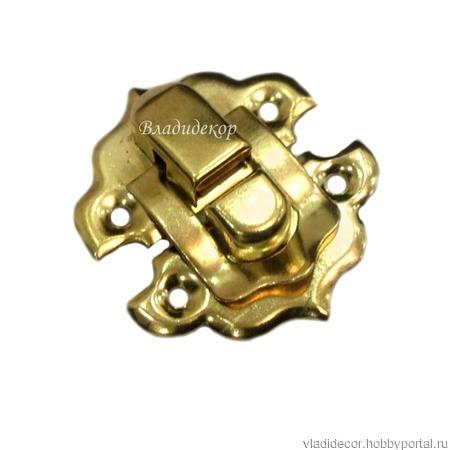 Замочек шкатулки заготовка М-76 золото ручной работы на заказ