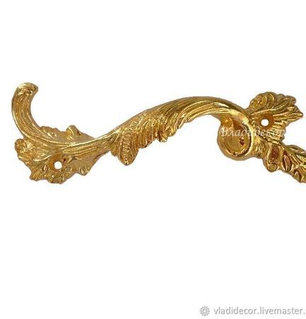 Ручка мебельная скоба М-46 золото аксессуары для шкатулок комодов ручной работы на заказ