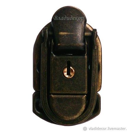 Замок на сумку чемодан М-251 задвижка на ключ фурнитура для портфеля ручной работы на заказ