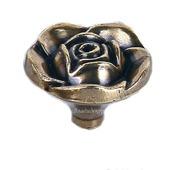 Ручка кнопка на ножке М-108 роза винтажные аксессуары для шкатулок