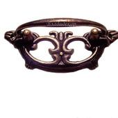 Ручка мебельной шкатулки М-4 фурнитура декор скоба с основой
