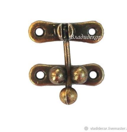 Замочек фурнитура шкатулки М-58 выбор цвета заготовка металл декор ручной работы на заказ