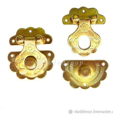 Замочек фурнитура шкатулки М-10 выбор цвета заготовка декор рукоделия ручной работы на заказ