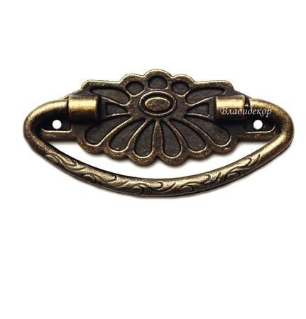 Ручка мебельная фурнитура Ф-26 средняя скоба с основой декор шкатулок ручной работы на заказ