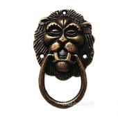 Ручка голова льва с кольцом Ф-1 аксессуары для шкатулок, комодов