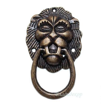 Ручка голова льва с кольцом Ф-1 аксессуары для шкатулок, комодов ручной работы на заказ