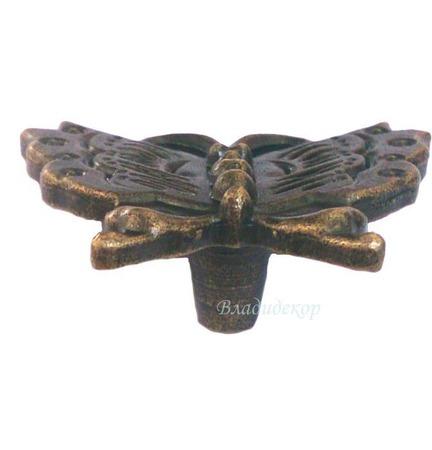 Ручка кнопка бабочка на ножке М-255 винтажные аксессуары для шкатулок ручной работы на заказ
