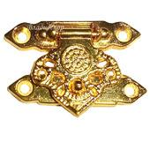 Замочек шкатулки фурнитура М-26 золото декор