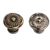 Ручка кнопка на ножке М-107 выбор цвета фурнитура декор мебели