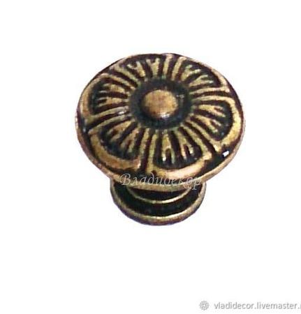 Ручка кнопка на ножке М-107 выбор цвета фурнитура декор мебели ручной работы на заказ