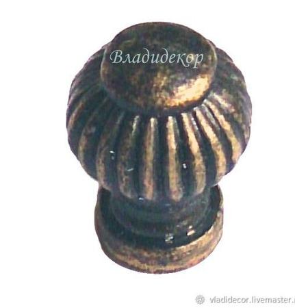 Ручка кнопка на ножке М-105 выбор цвета фурнитура декор мебели ручной работы на заказ