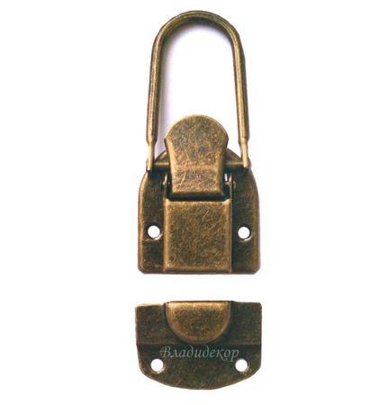 Замок металический задвижкой М-171 пряжка для сумок чемоданов сундука ручной работы на заказ