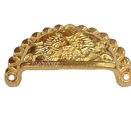 Ручка ракушка для ящиков М-150 шкатулок комодов декор Дракон ручной работы на заказ