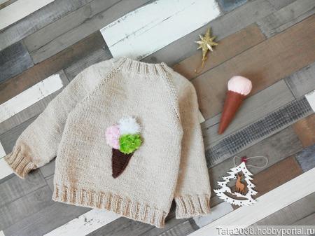 Джемпер для девочки ручной работы ручной работы на заказ