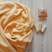 Флис ткань светло-желтый плотный