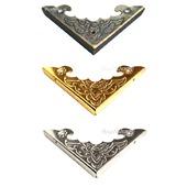 Уголок декор шкатулки М-23 бронза золото серебро