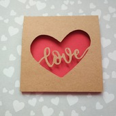 """Открытка для влюбленных """"Любовь в сердце"""""""