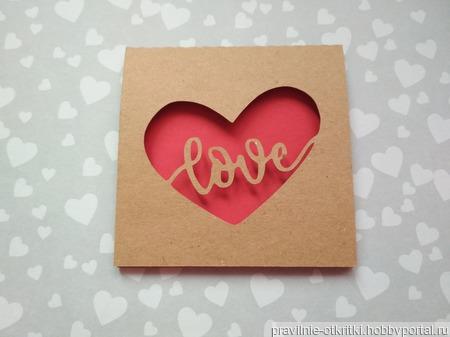 """Открытка для влюбленных """"Любовь в сердце"""" ручной работы на заказ"""