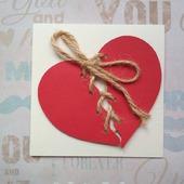 """Открытка для влюбленных """"Связанные сердца"""""""