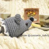 Игрушка амигуруми мышка