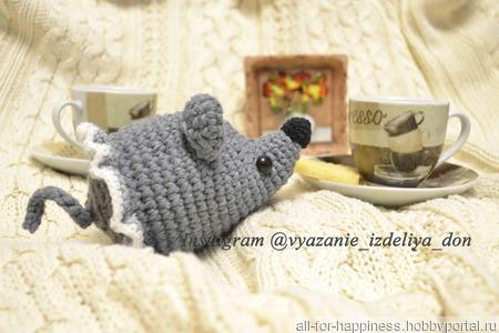 Игрушка амигуруми мышка ручной работы на заказ